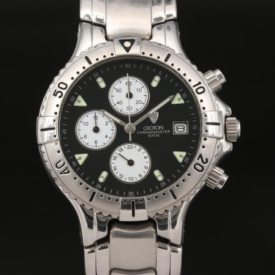 Croton Chronomaster Stainless Steel Quartz Wristwatch