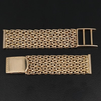 18K Fancy Link Watch Band
