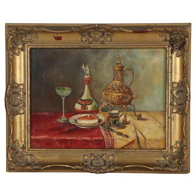 Piet Van Beek Still Life Oil Painting, Late 20th Century