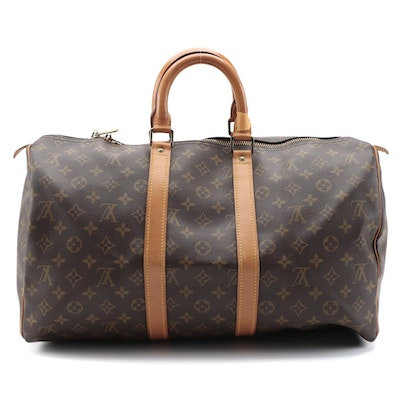 Louis Vuitton Malletier Keepall 45 Duffel Bag in Monogram Canvas