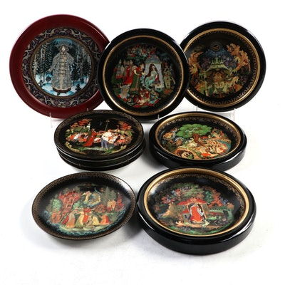 "Tianex ""Russian Legends"" Collector Plates with Heinrich ""The Snow Maiden"" Plate"