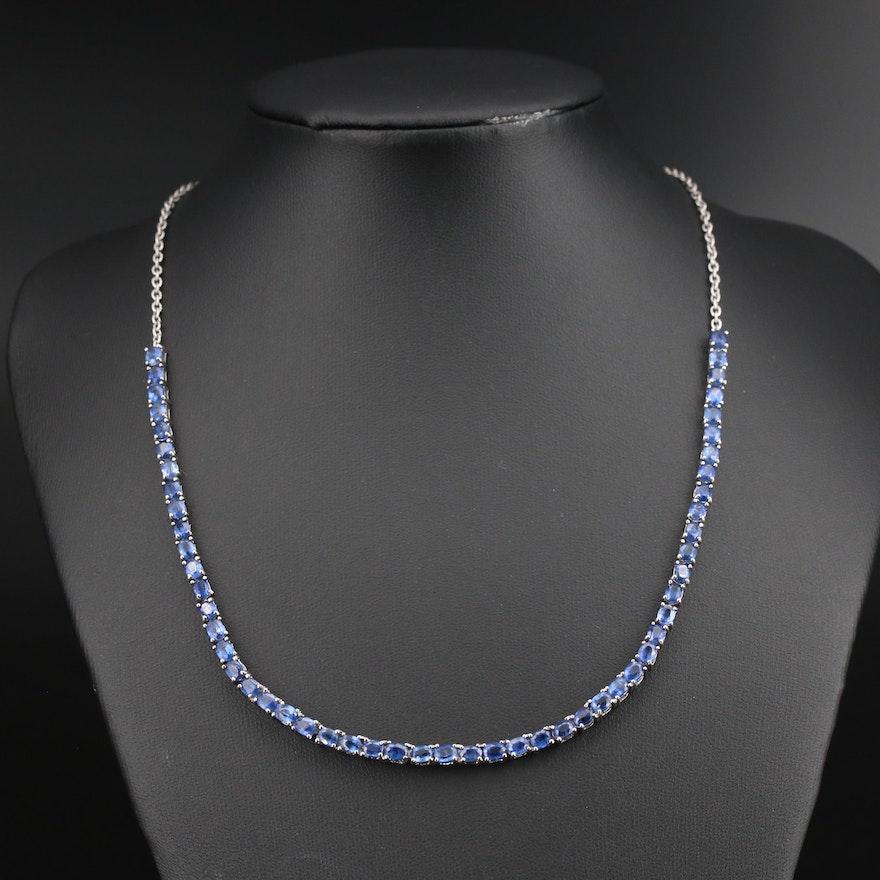 Sterling Kyanite Line Necklace