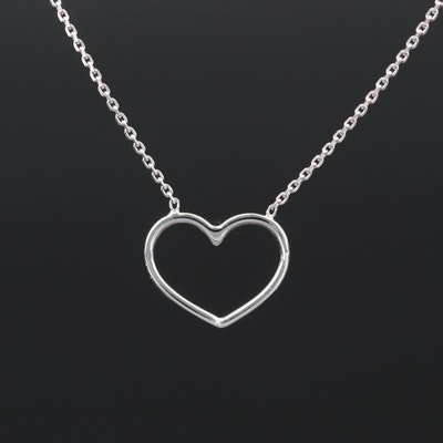 14K Fixed Heart Necklace