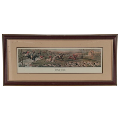 "Foxhunting Offset Lithograph after Henry Thomas Alken ""Full Cry"""