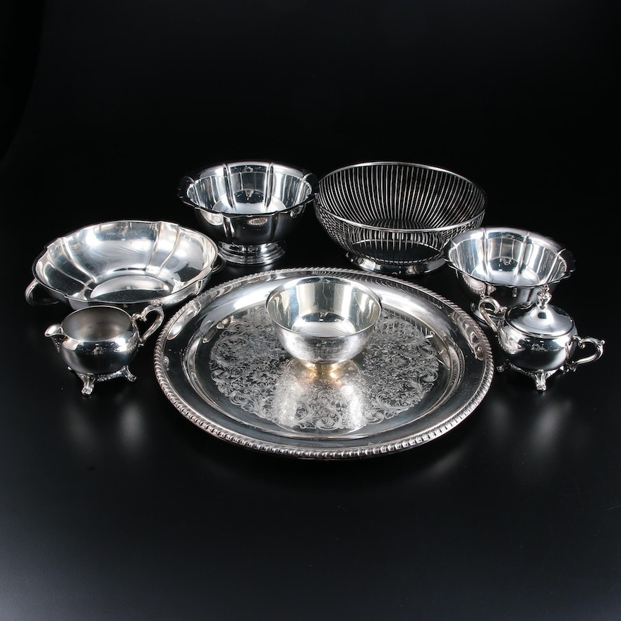 William Rogers Silver Plate Serving Trays and Other Tableware
