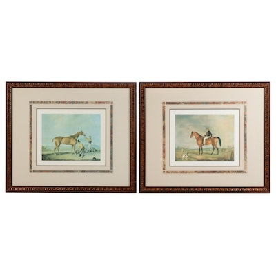 Equestrian Themed Offset Lithographs