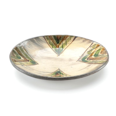 Bandana Pottery Earthenware Oval Bowl