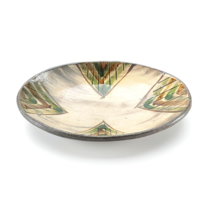 Bandana Pottery Earthenware Oval Bowl