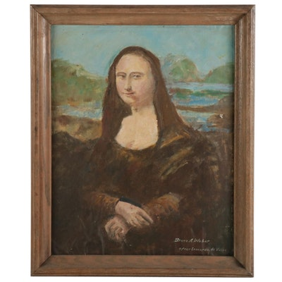 "Oil Painting after Leonardo da Vinci ""Mona Lisa"""
