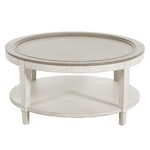 """Bassett """"Bella"""" Parcel Painted Wood Two-Tier Round Cocktail Table"""