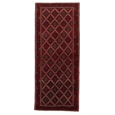 5'2 x 12'9 Hand-Knotted Persian Turkmen Long Rug, 1970s