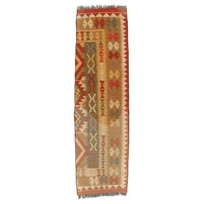 1'10 x 6'8 Handwoven Afghan Kilim Carpet Runner