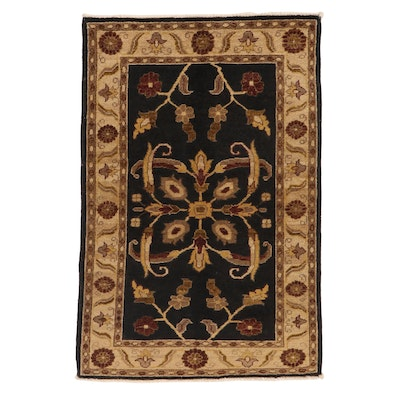 2'8 x 4' Hand-Knotted Indo-Persian Tabriz Accent Rug