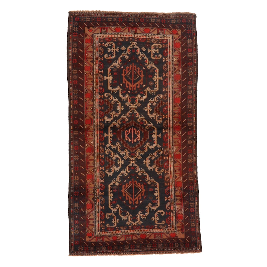3'5 x 6'4 Hand-Knotted Afghan Baluch Area Rug