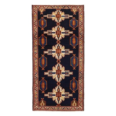 4'6 x 9'7 Hand-Knotted Northwest Persian Long Rug, 1970s
