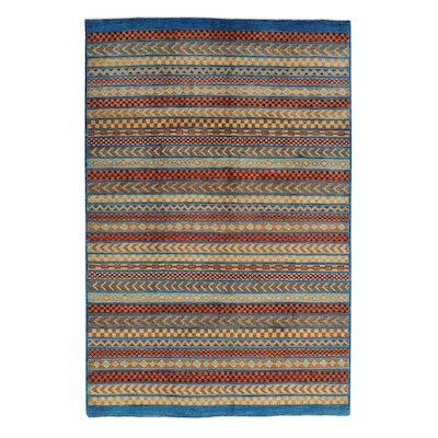 6'1 x 9'1 Hand-Knotted Pakistani Gabbeh Rug, 2000s
