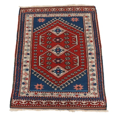 2'7 x 3'6 Hand-Knotted Afghan Kazak Accent Rug