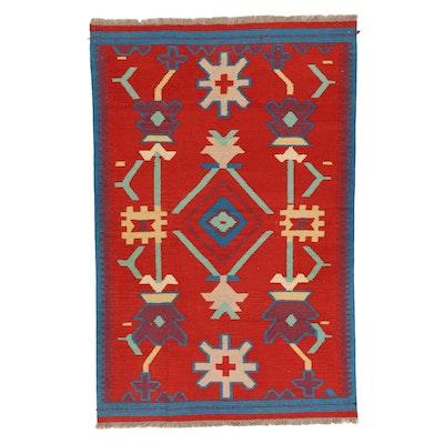 3'11 x 6'2 Handwoven Afghan Kilim Area Rug