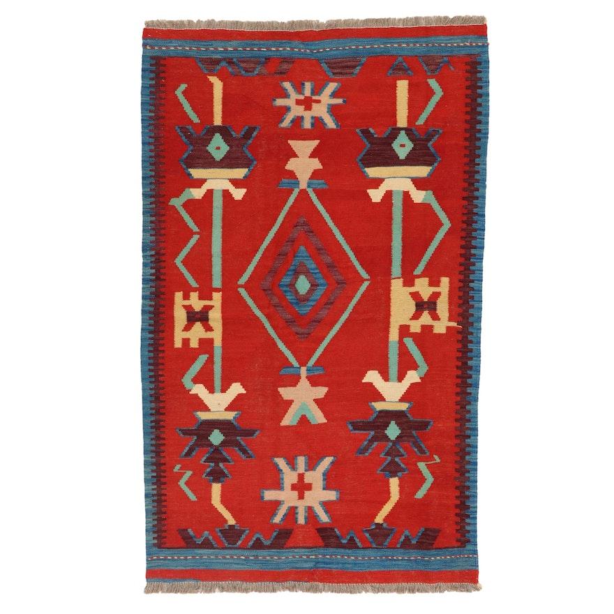 3'8 x 6'1 Handwoven Afghan Kilim Area Rug