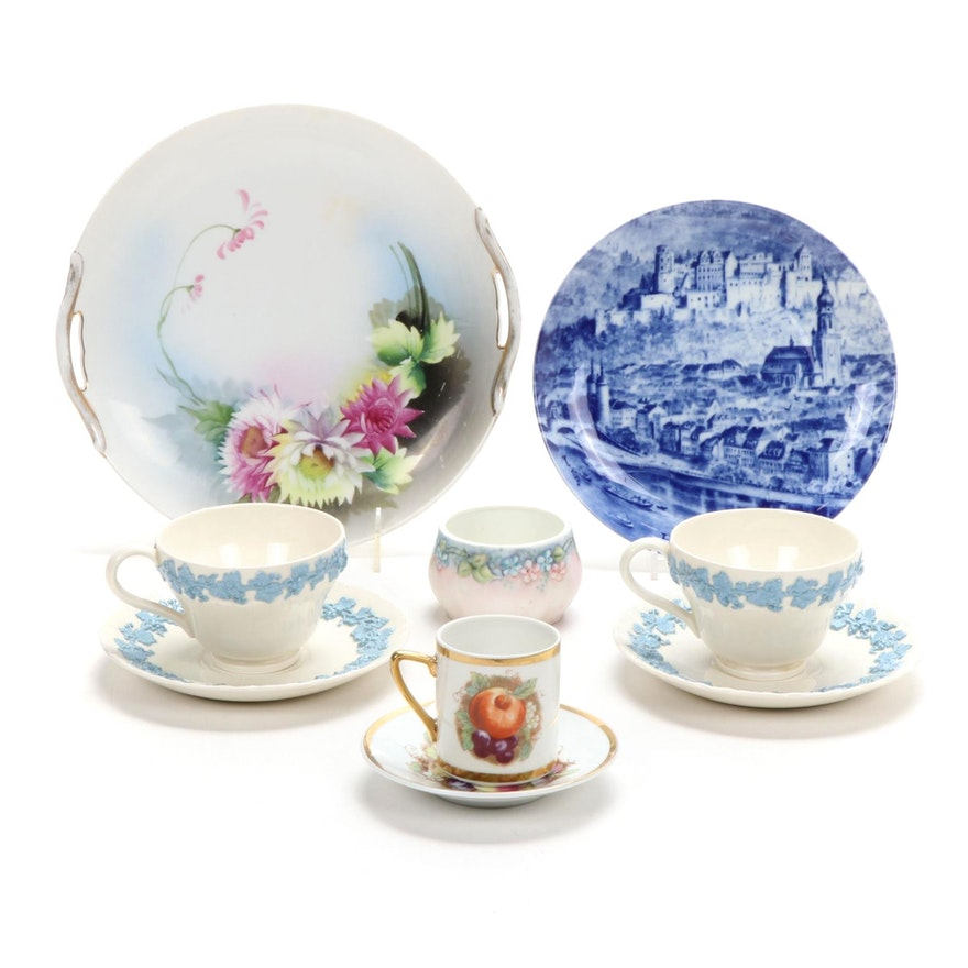 Wedgwood, Stadteteller, Morimura Bros, and Other Hand-Painted China