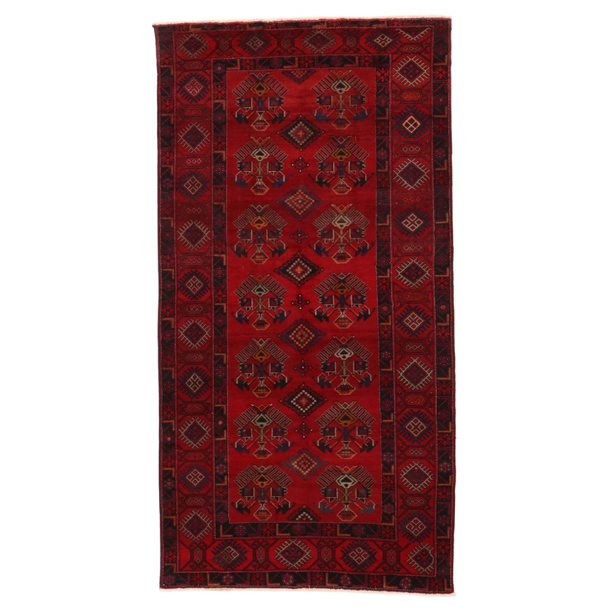 5'3 x 10'3 Hand-Knotted Northwest Persian Rug, 1960s