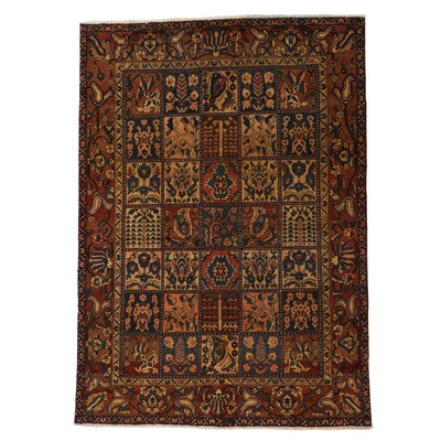 7'0 x 9'10 Hand-Knotted Persian Bakhtiari Rug, 1960s