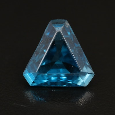 Loose 9.60 CT Modified Trillion Faceted Topaz