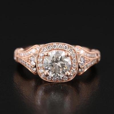 Gabriel & Co. 14K 1.62 CTW Diamond Ring