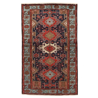 4'1 x 6'10 Hand-Knotted Persian Kurdish Area Rug