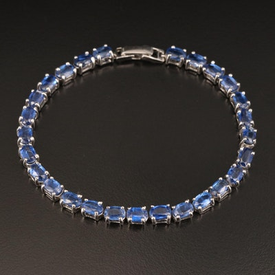 Sterling Kyanite Line Bracelet