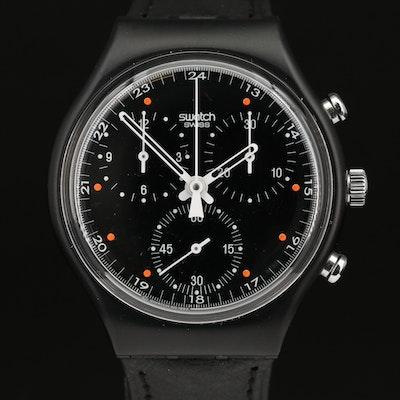 "1991 Swatch ""Wall Street"" Chronograph Plastic Quartz Wristwatch"