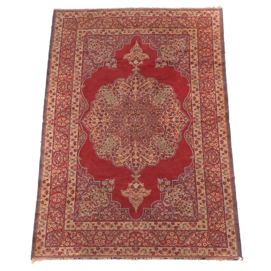 4'2 x 6'4 Machine Made Persian Kerman Style Area Rug