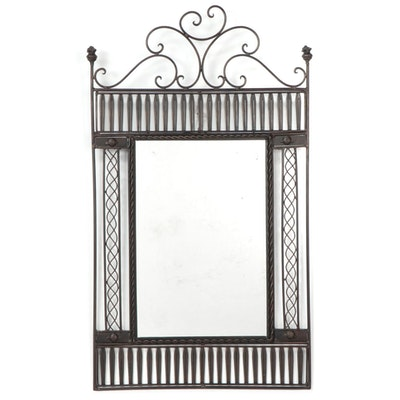 Bronze Tone Metal Garden Gate Mirror