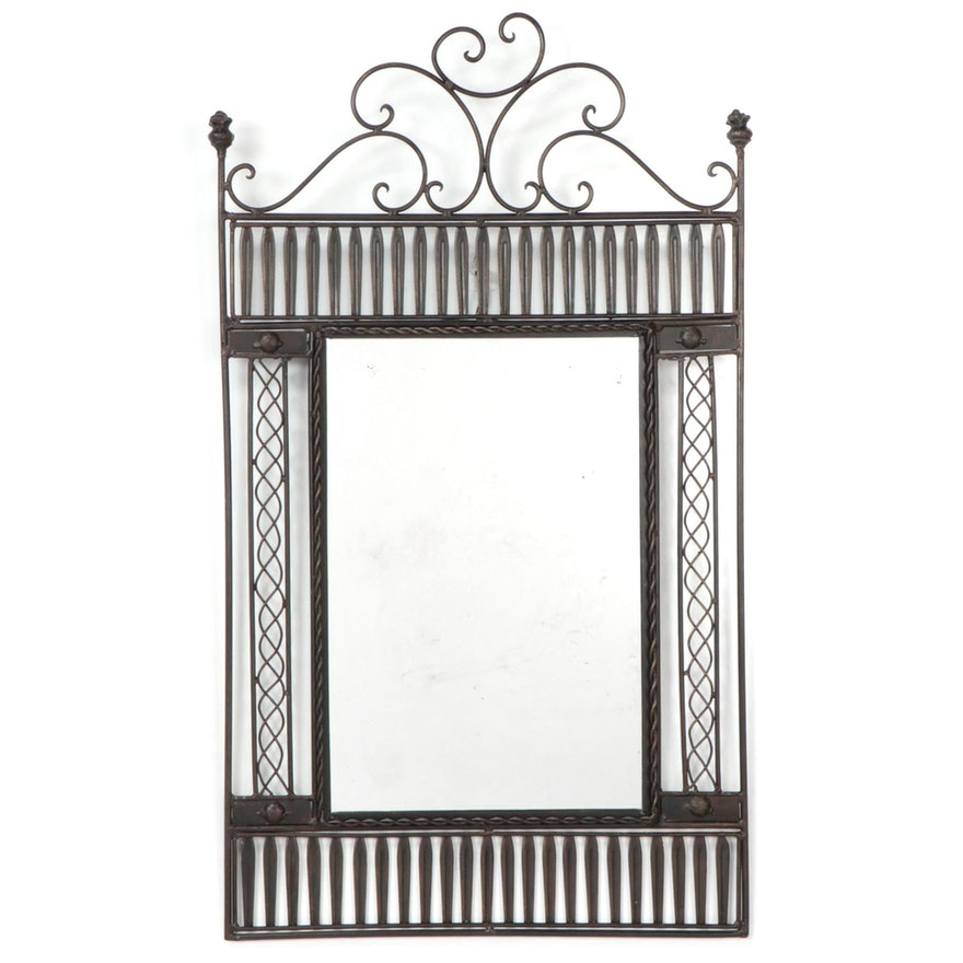 Bronze Tone Metal Garden Gate Mirror