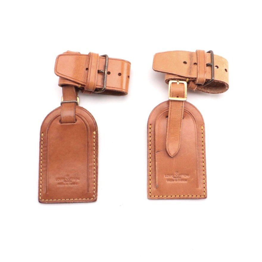 Loius Vuitton Luggage Tags and Poignets in Vachetta Leather