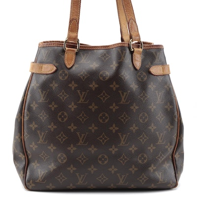 Louis Vuitton Batignolles Vertical Tote in Monogram Canvas and Vachetta Leather