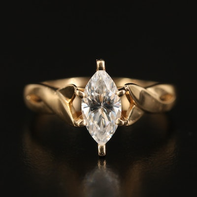 14K Cubic Zirconia Marquise Ring