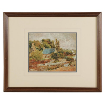 "Offset Lithograph after Paul Gauguin ""Washerwomen at Pont-Aven"""