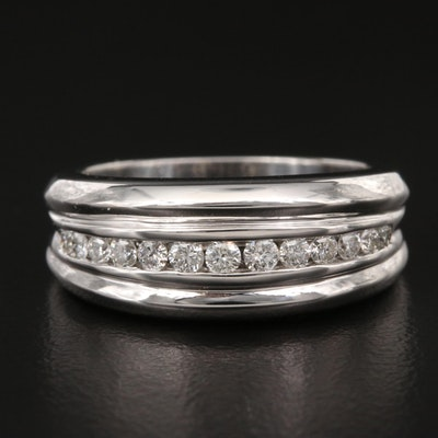 18K Channel Set Diamond Band