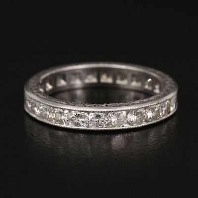 Platinum 1.44 CTW Diamond Eternity Band