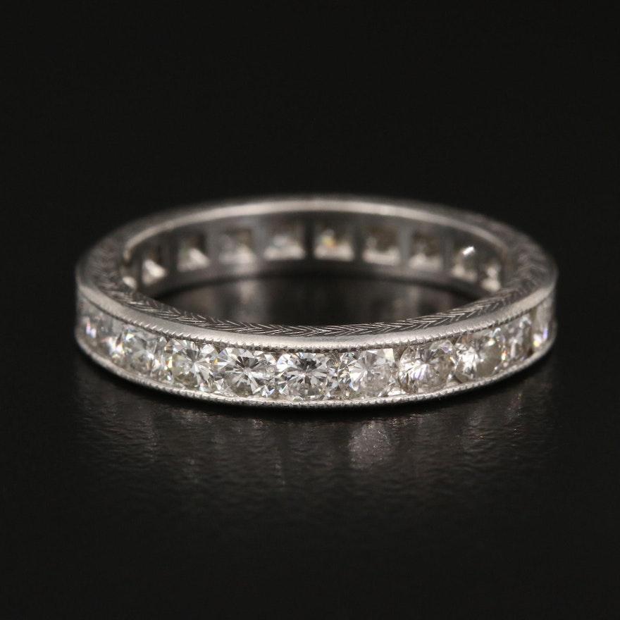 Platinum 1.44 CTW Diamond Eternity Band