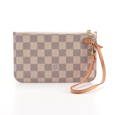 Louis Vuitton Neverfull Accessory Pochette in Damier Azur Canvas
