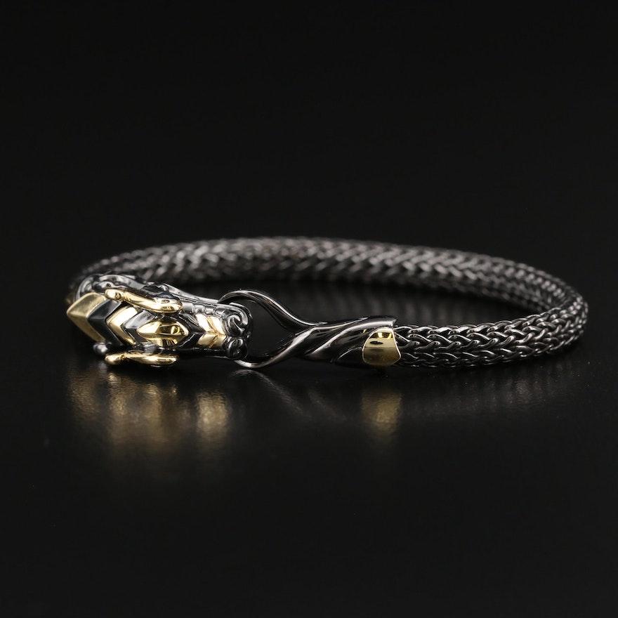 John Hardy Legends Naga Sterling Sapphire Station Bracelet