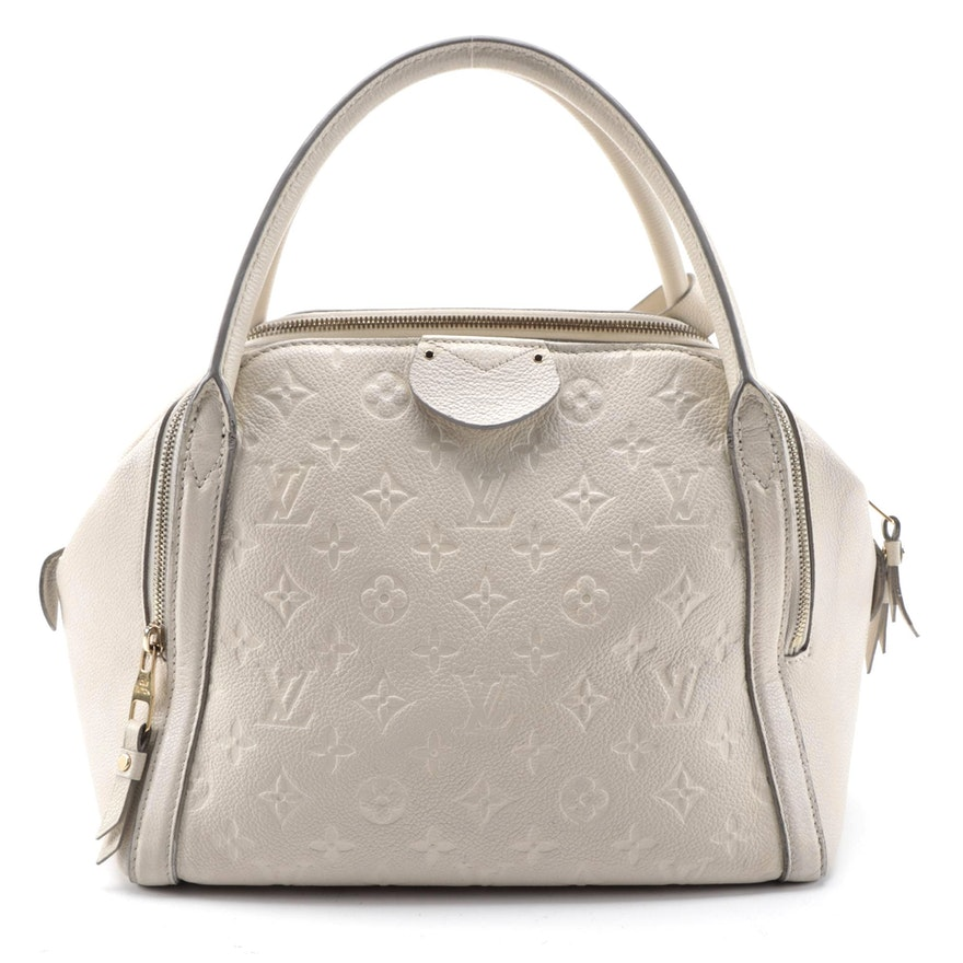 Louis Vuitton Marais MM in Monogram Empreinte Neige Leather