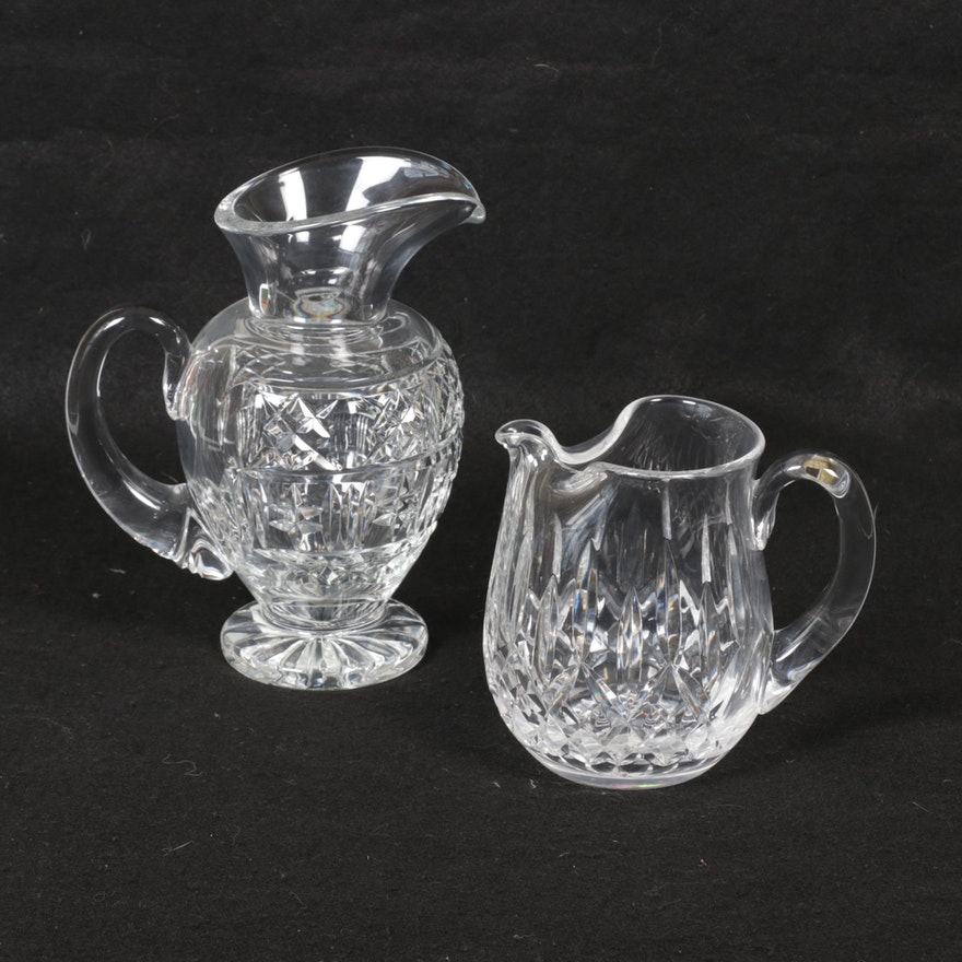 "Waterford Crystal ""Lismore"" and ""Giftware"" Pitchers"