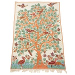 Handmade Indian Embroidered Chain Stitch Art Silk Wall Hanging