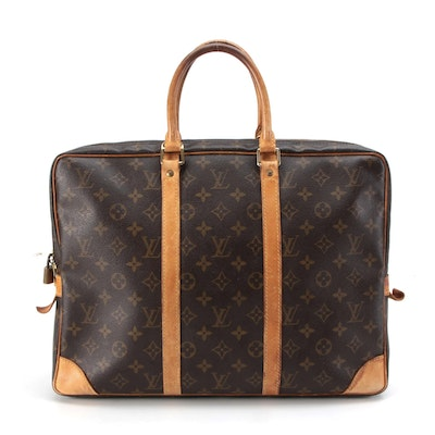 Louis Vuitton Porte-Documents Voyage Briefcase in Monogram Canvas