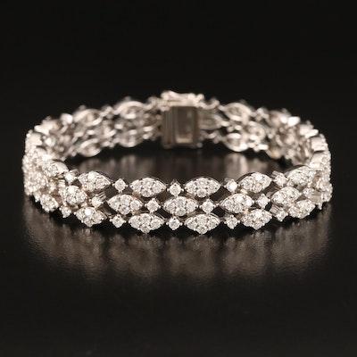 18K 7.46 CTW Diamond Bracelet