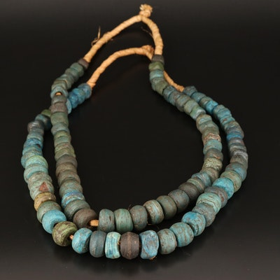 Antique Hebron Kano Trade Bead Necklaces