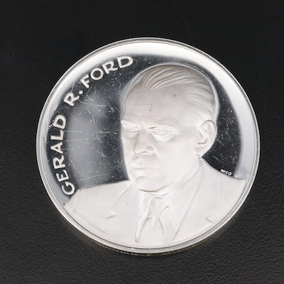 .999 Fine Silver Gerald R. Ford Inauguration Medal, 1974